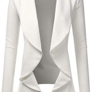 Draped open-front blazer